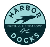 Harbor Docks Fresh Gulf Seafood Mullet Logo