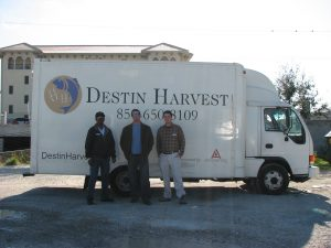 Destin Harvest's first food truck with Willie, Mike, and Chris