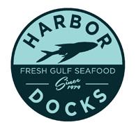 Harbor Docks Fresh Gulf Seafood Mullet Logo